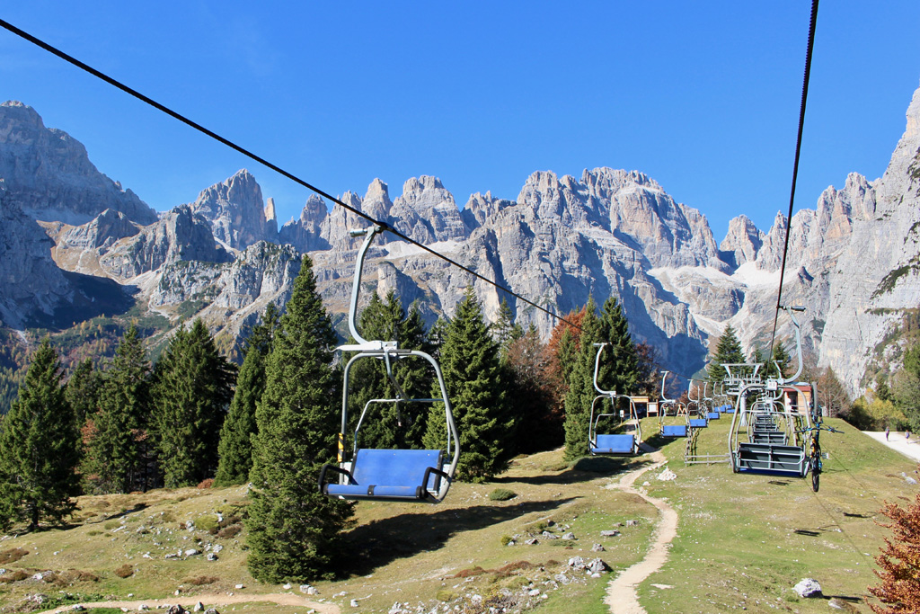 Berglift in de zomer