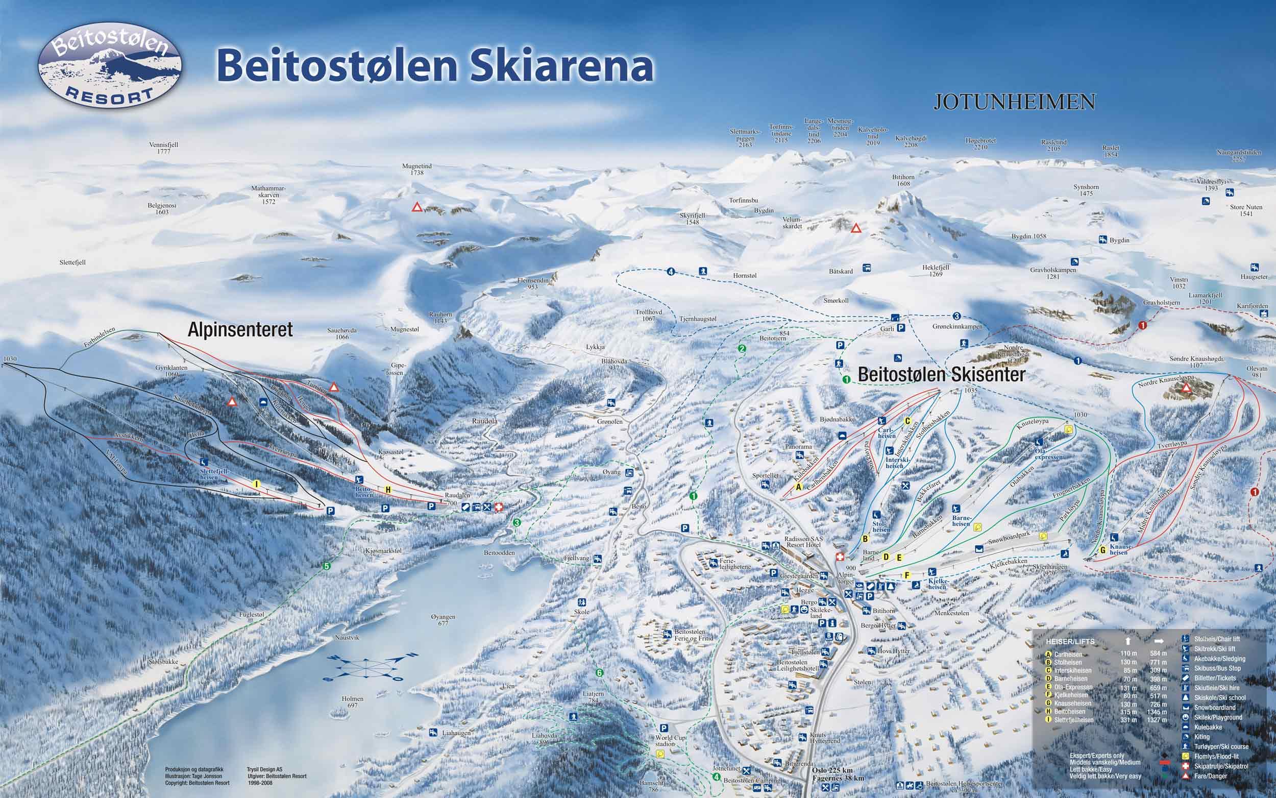 Beitostolen Skigebieden Noorwegen