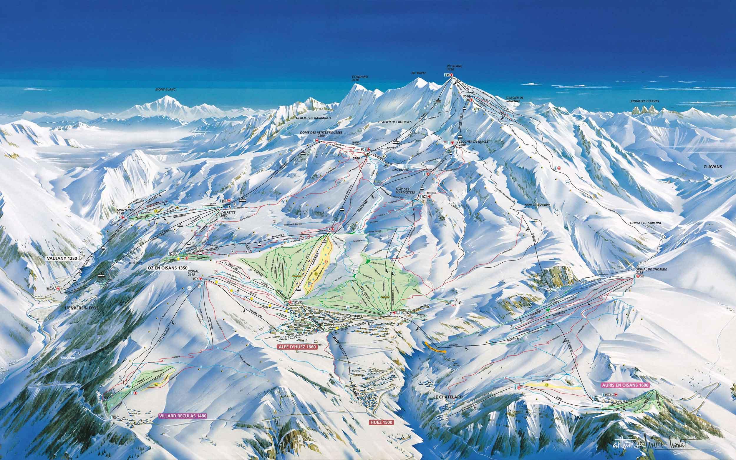 Alpe d\'Huez - Skigebiet in Frankreich