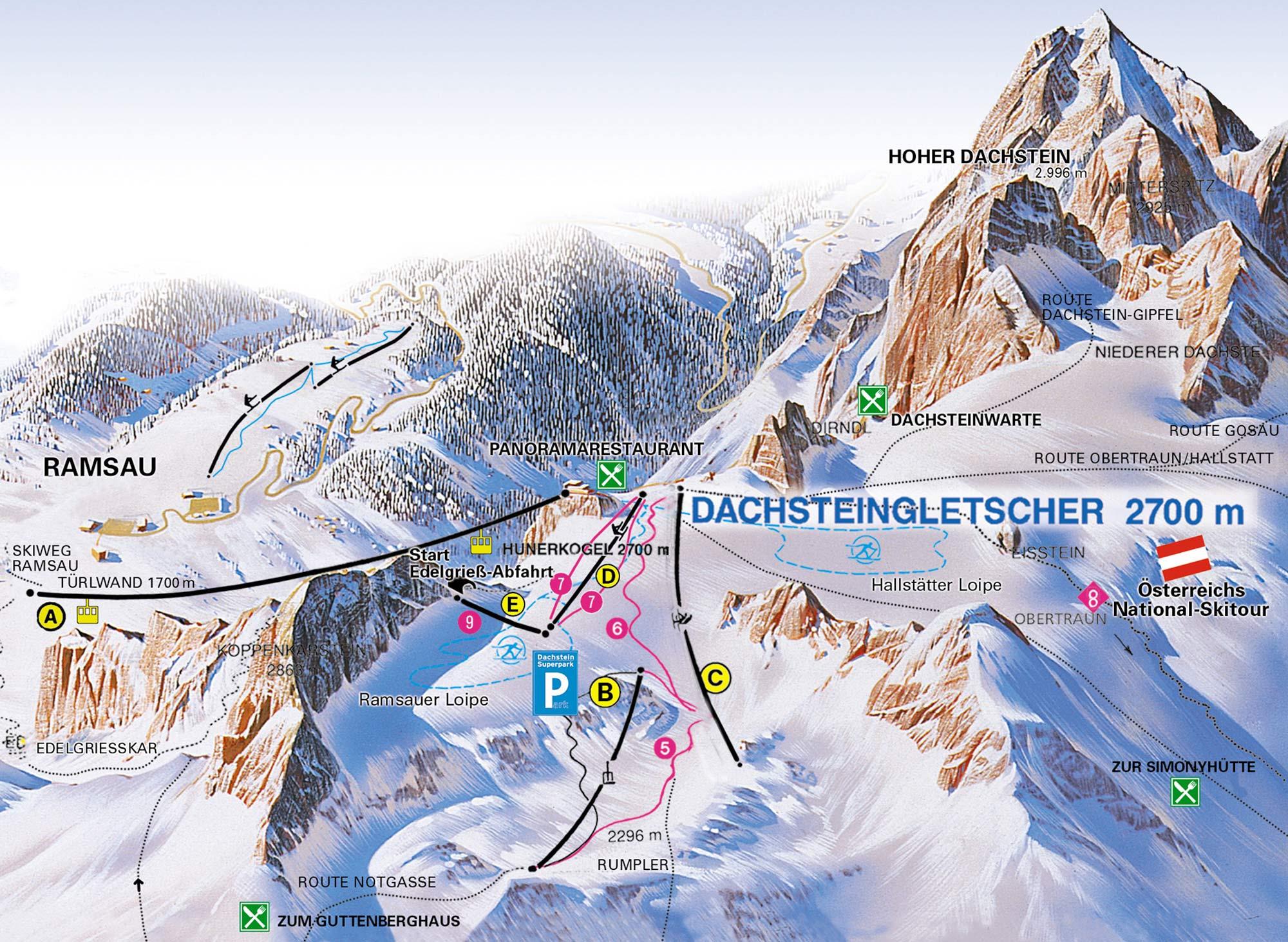 Dachstein Gletscher Skigebiet In Osterreich