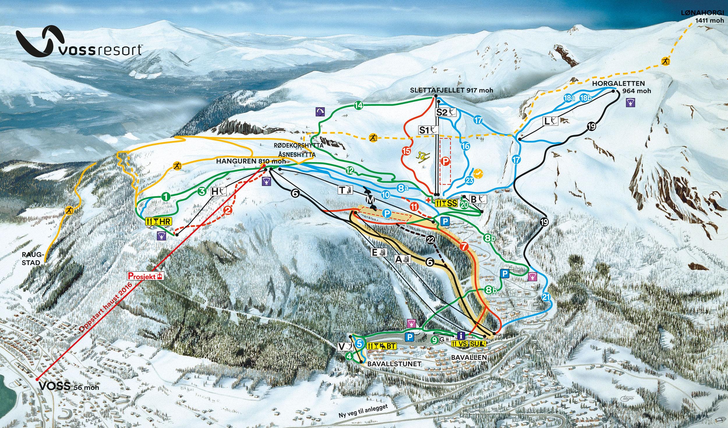 Voss Skigebieden Noorwegen