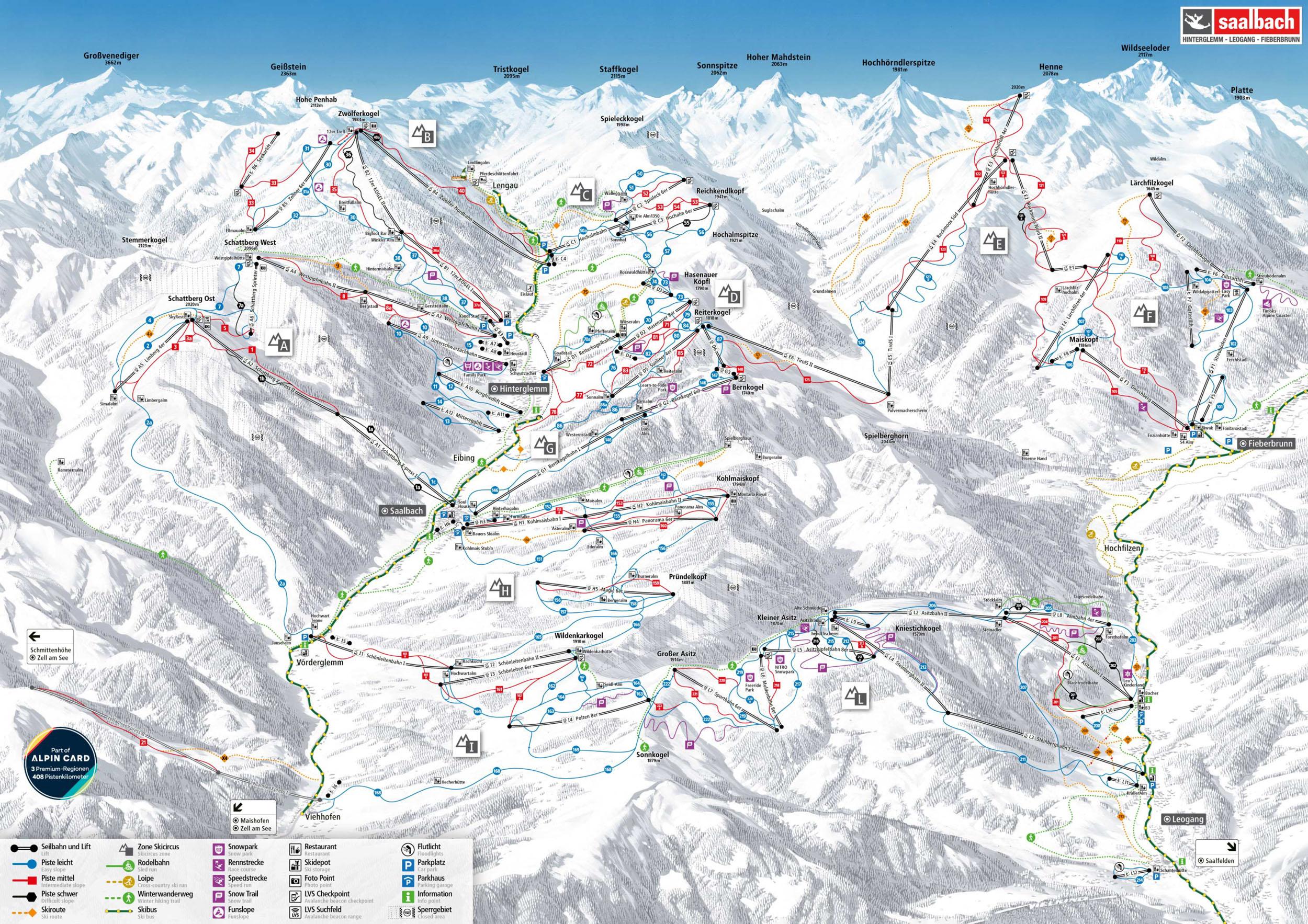 Sportangebote Saalbach Hinterglemm - Kurse - BERGFEX