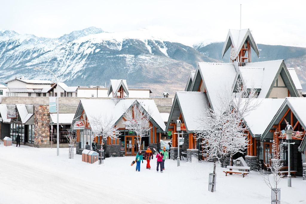 Wintersport in Jasper Canada