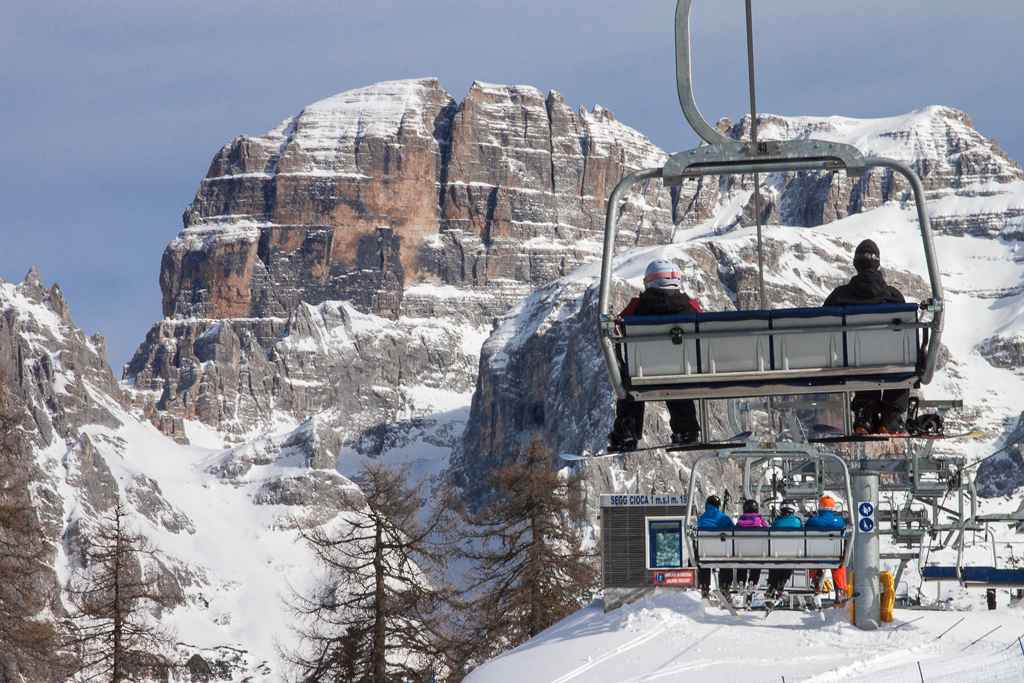 Skilift in skigebied Skirama