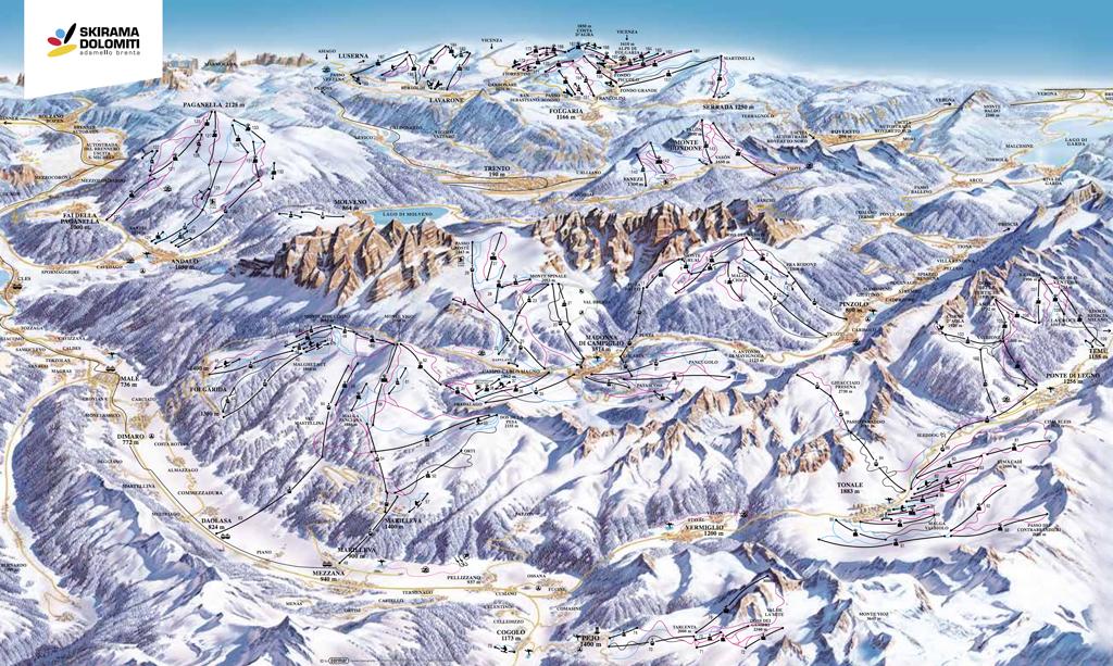 Plattegrond skigebied Skirama