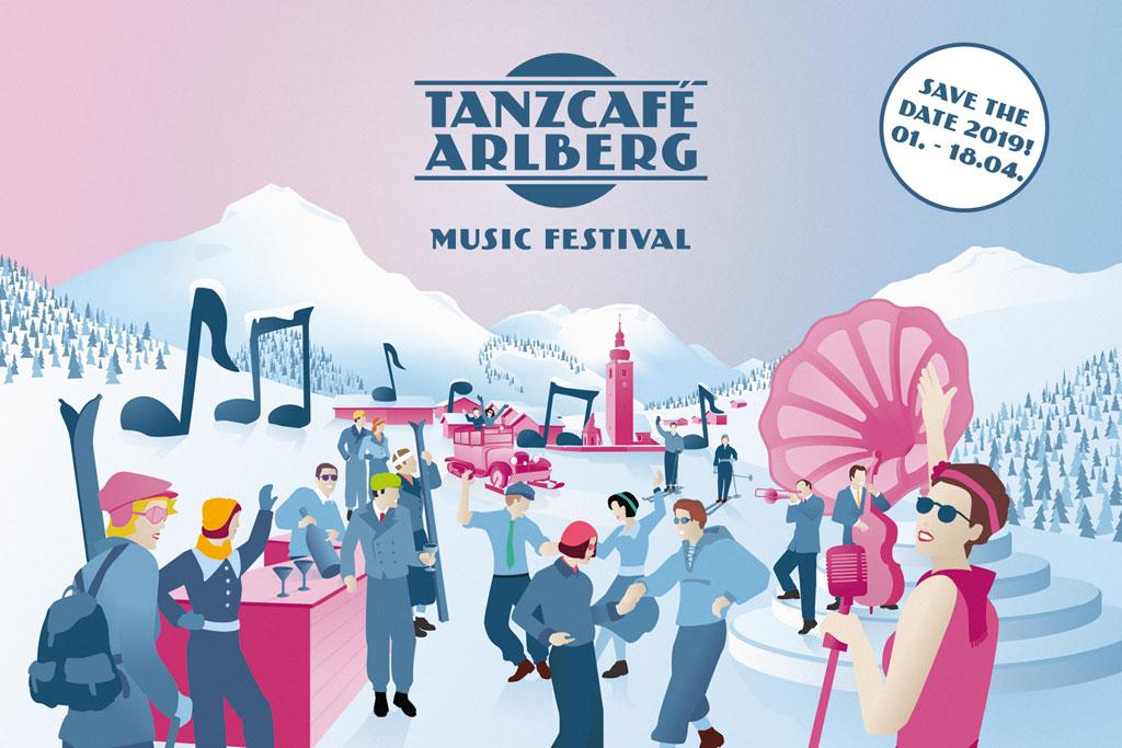 Vorarlberg Wintersport aankondiging feest