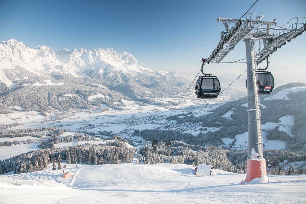 Skigebied SkiWelt uitzicht