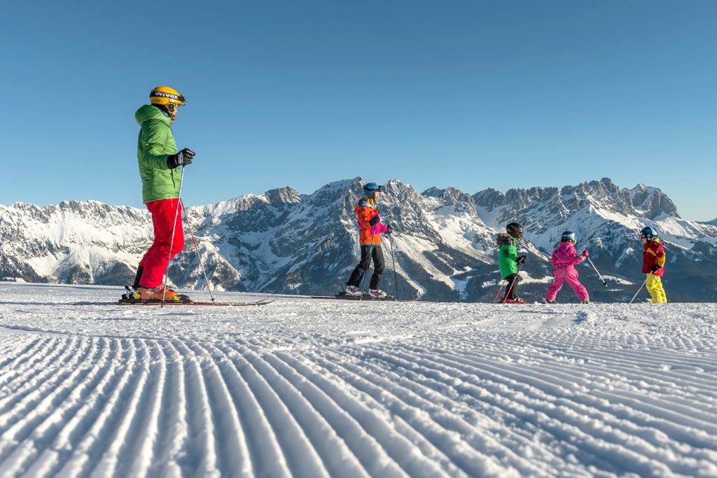 Op de piste in SkiWelt