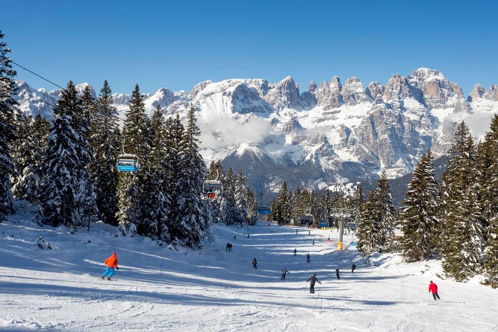 Piste in Skirama Dolomiti