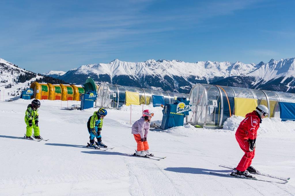 Skiles kinderen in Tirol