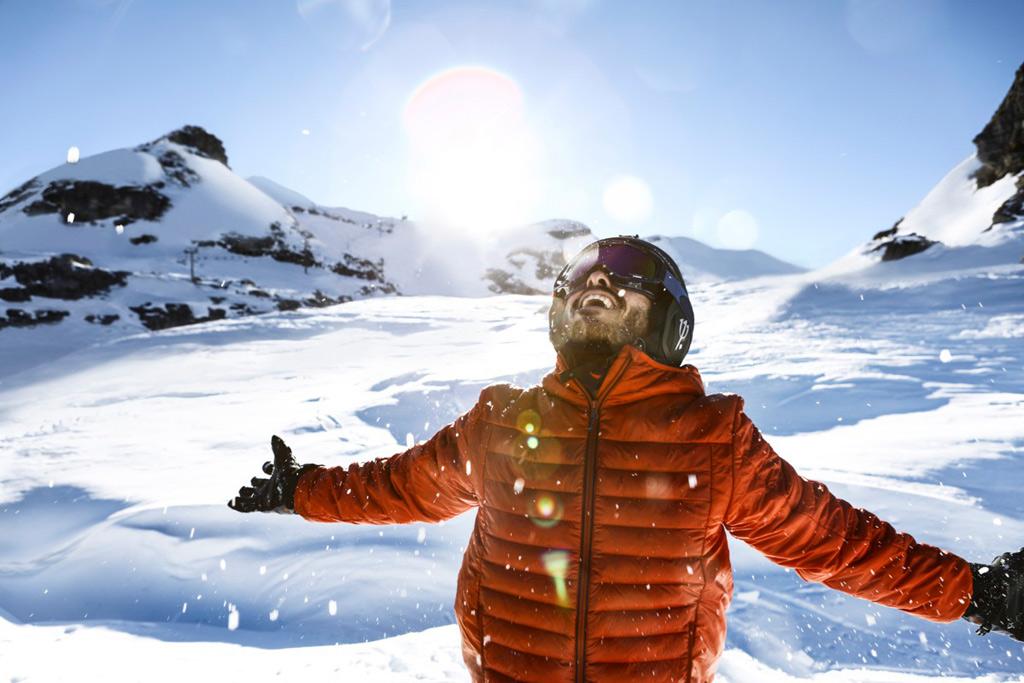 Wintersporter op de piste