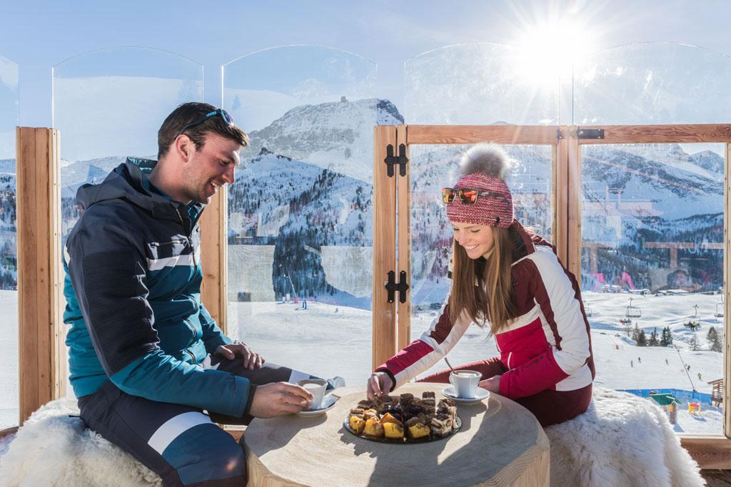 Eten bij een berghut