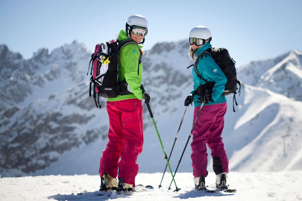 Skiërs in Oberstdorf Kleinwalsertal