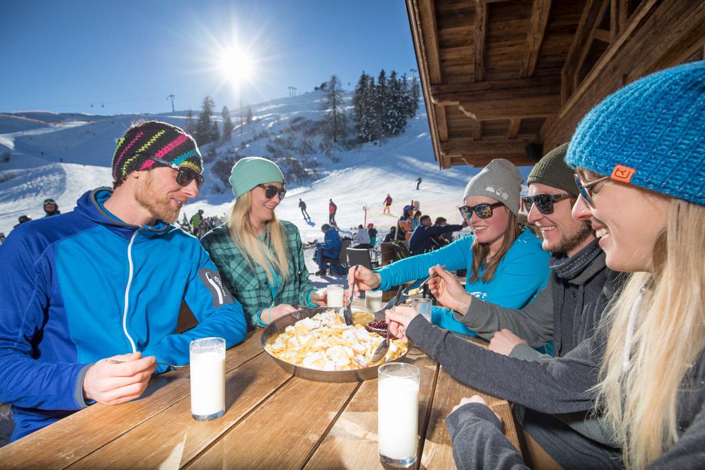 Lunchen berghut ski Juwel
