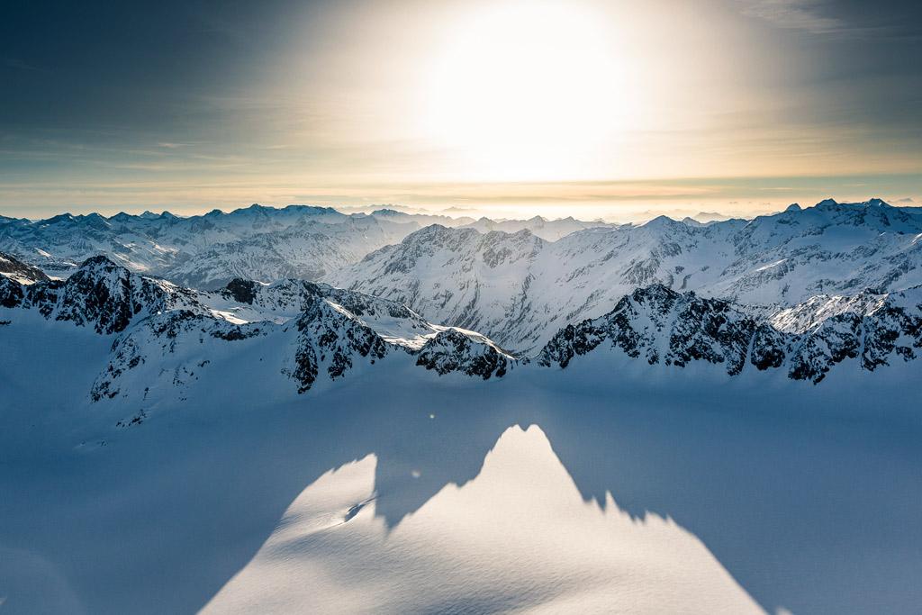 Zonsopkomst in Tirol