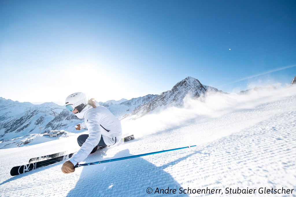 Skiën op de piste
