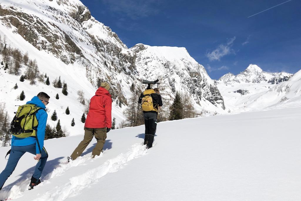 Winterwandern Osttirol am Fuß des Großglockners