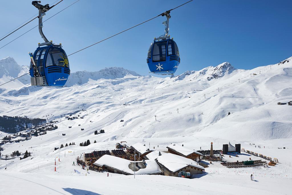 Skigebiet Arosa Lenzerheide Schweiz