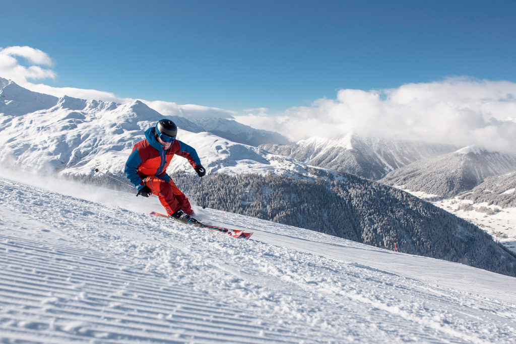 Skigebiet Davos Klosters Schweiz