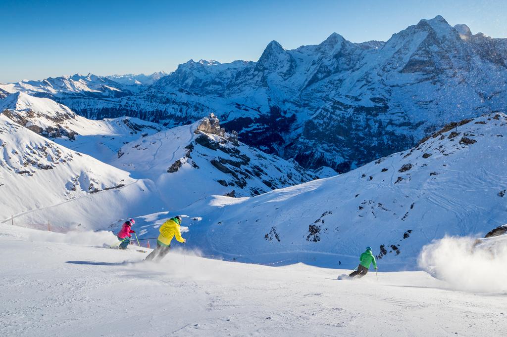 Skigebiet Jungfrau Region Schweiz