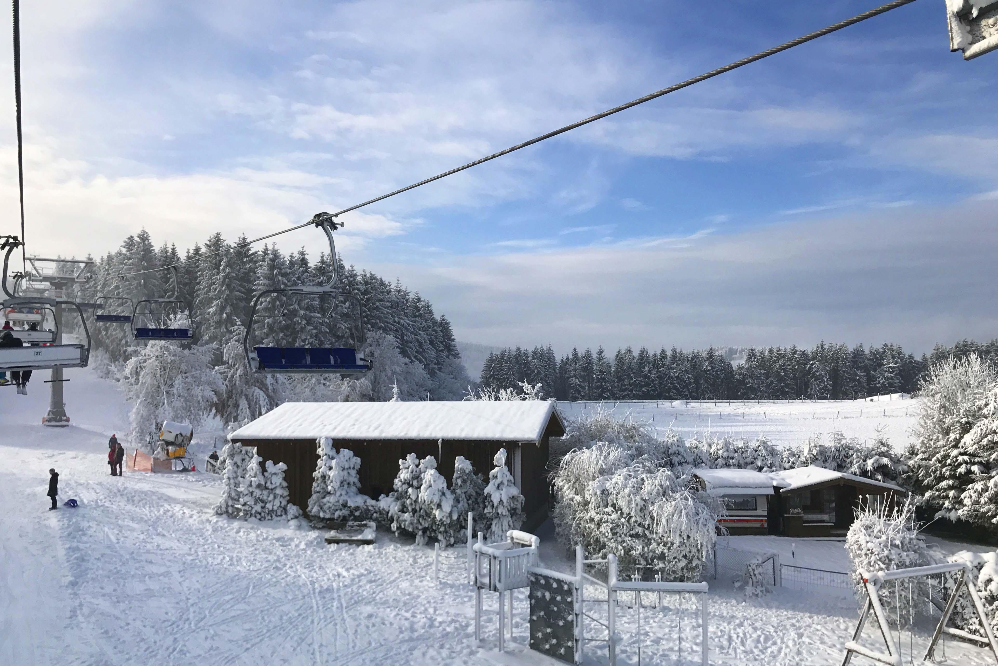 Winterberg uitzicht lift