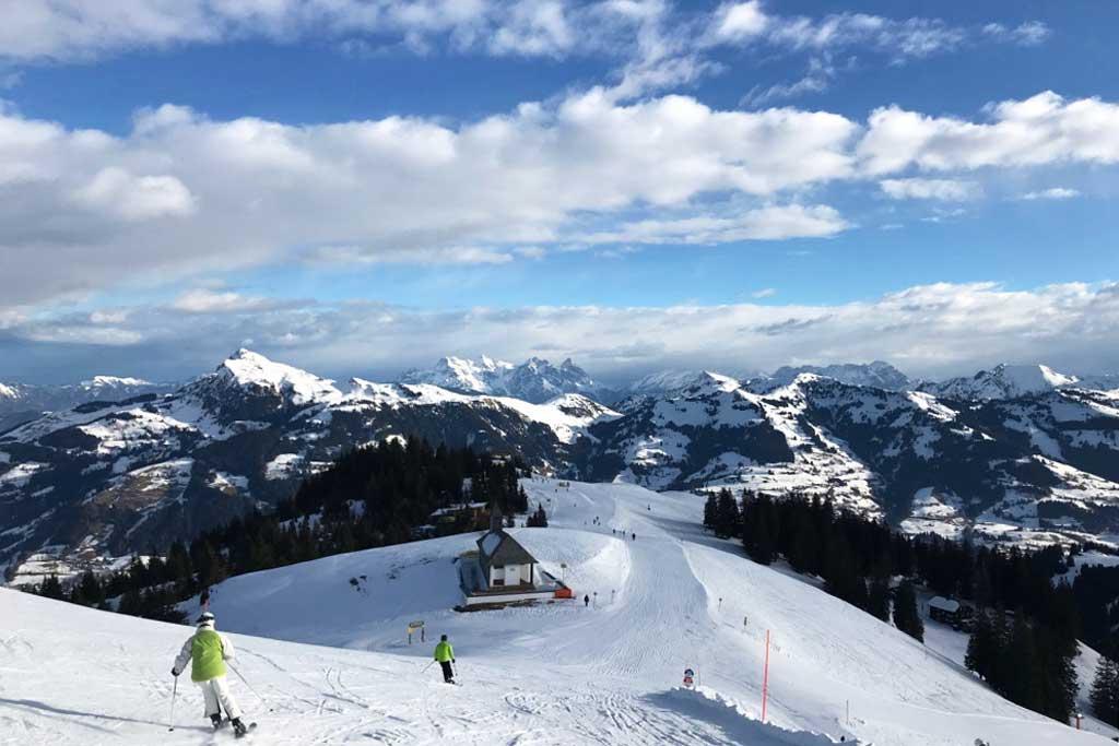 uitzicht piste bergen