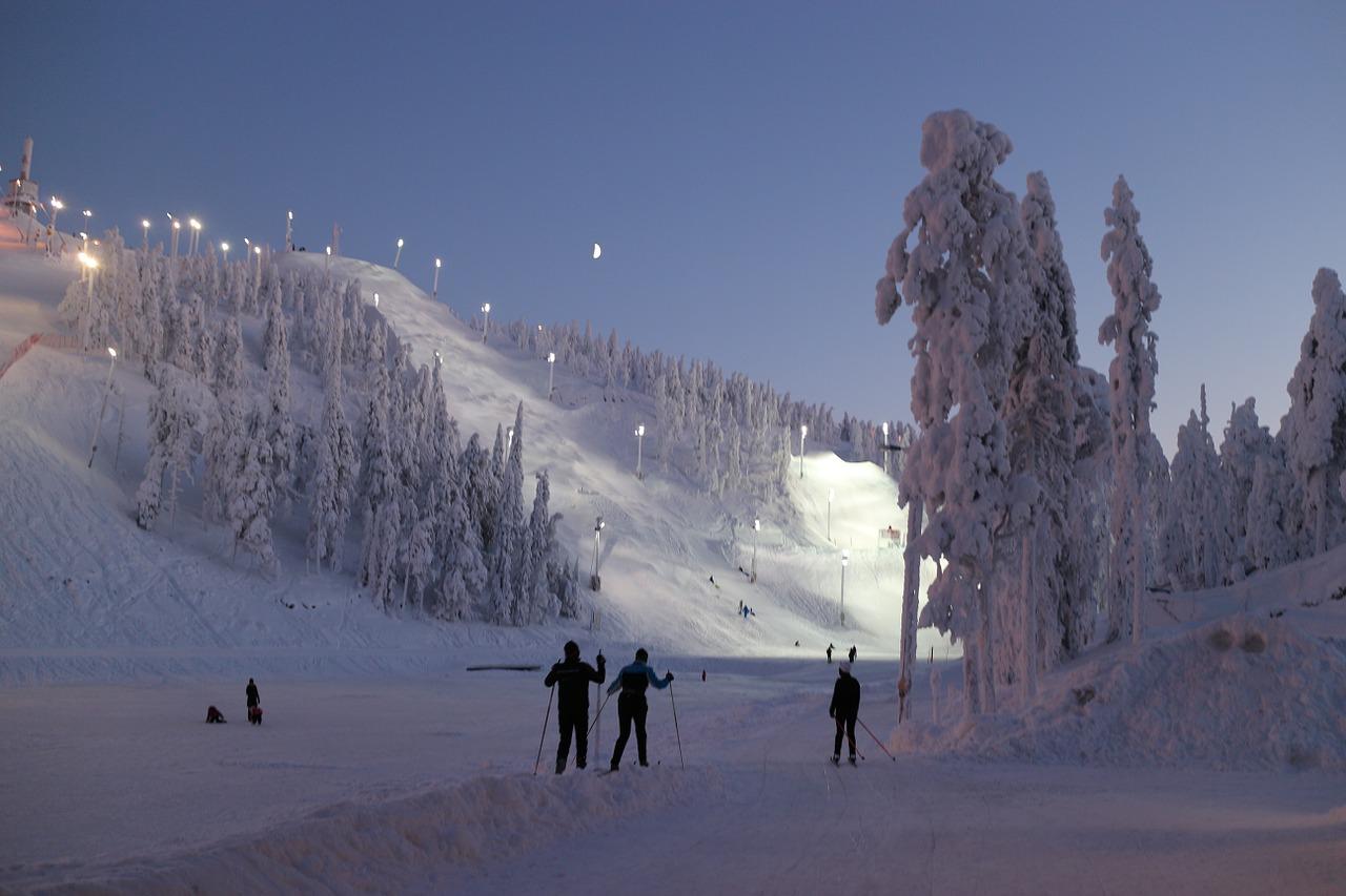 Skigebieden Finland