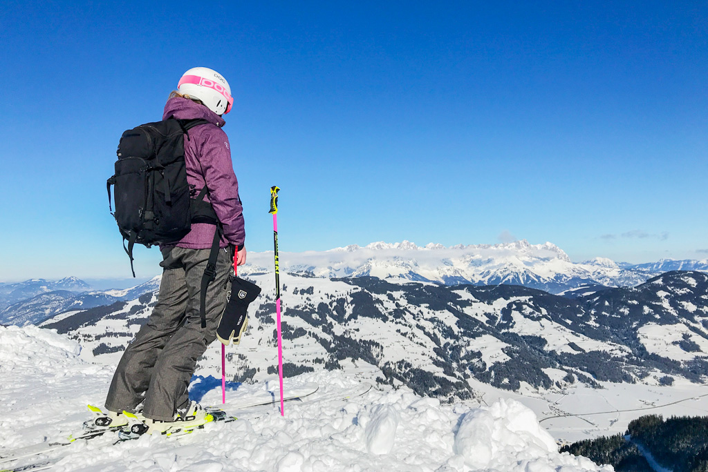 Ski rugzak zwart
