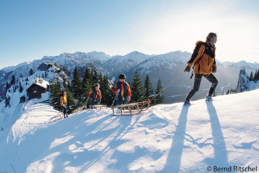 Sleeën Naturpark Ammergauer Alpen