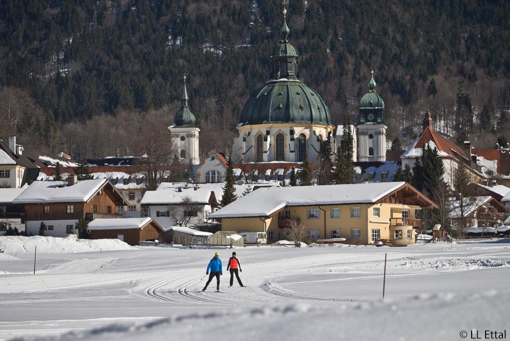 Langlaufen Naturpark Ammergauer Alpen