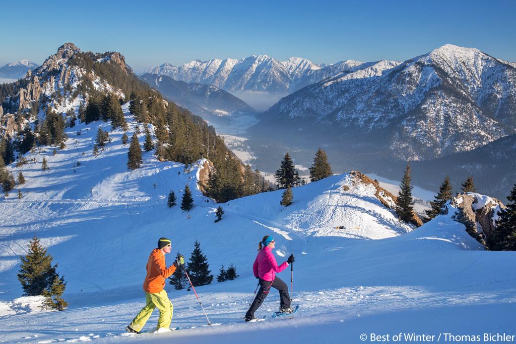 Sneeuwschoenwandelen Naturpark Ammergauer Alpen