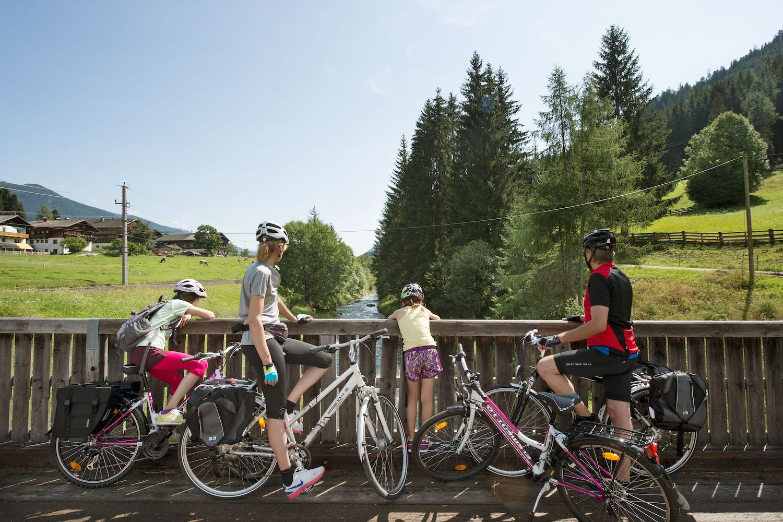 Fietsen met kinderen in Tirol