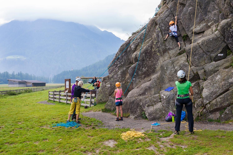 Klimmen met kinderen in Tirol