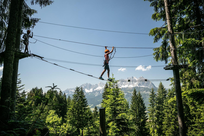 Klimbos Hornpark in de Kitzbüheler Alpen