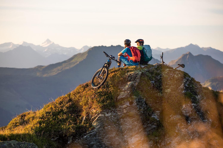 Fietsen in de bergen van de Kitzbüheler Alpen