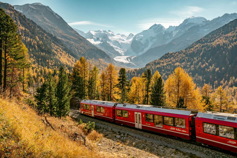 Trein herfst Zwitserland