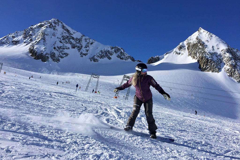 Snowboarden op de Stubaier Gletscher
