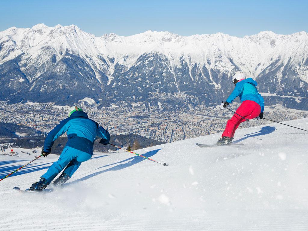 Afdalen op de Patscherkofel in Innsbruck