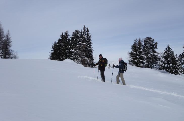 Sneeuwschoenwandelen in Turracher Höhe met de pistenbutler