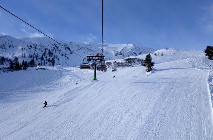 Brede piste in Turracher Höhe