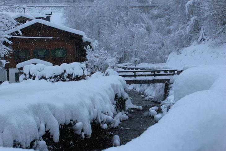 Sneeuw in Fieberbrunn