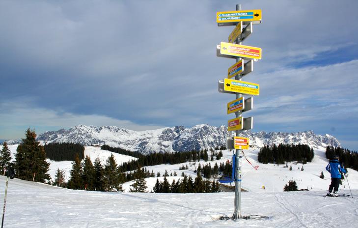 Piste bordje in Skiwelt Wilder Kaiser - Brixental – Oostenrijk