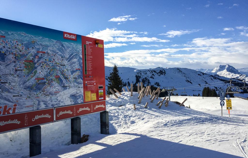 Skiën op de piste in Kirchberg