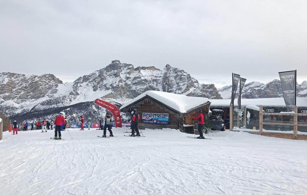 Wintersport in Alta Badia: uitzicht op de piste
