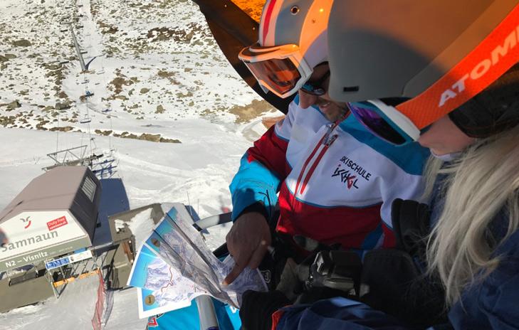 Ischgl is een overzichtelijk skigebied