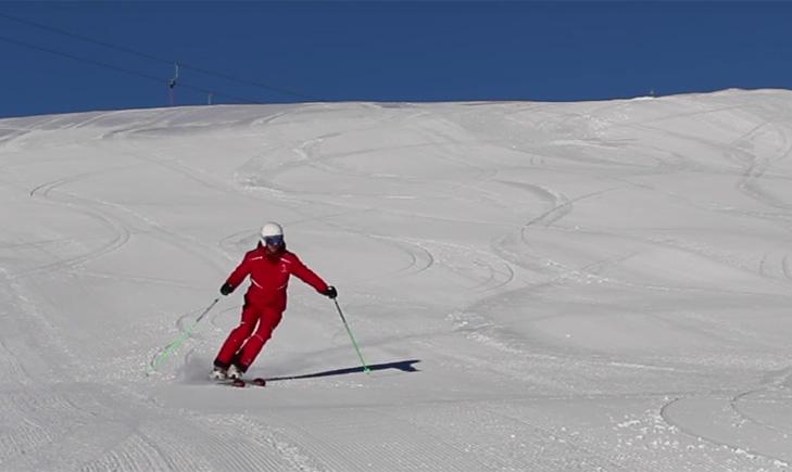 Een goede skihouding