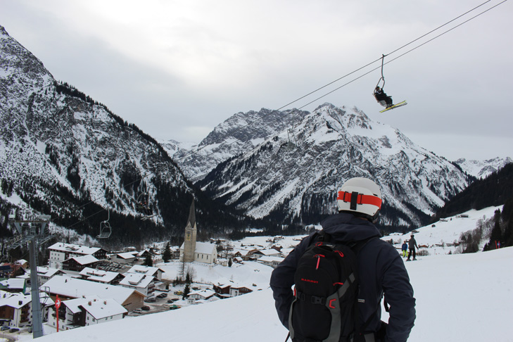 Skiweg naar Mittelberg