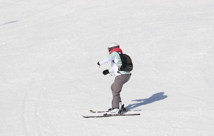 Angstige skiër