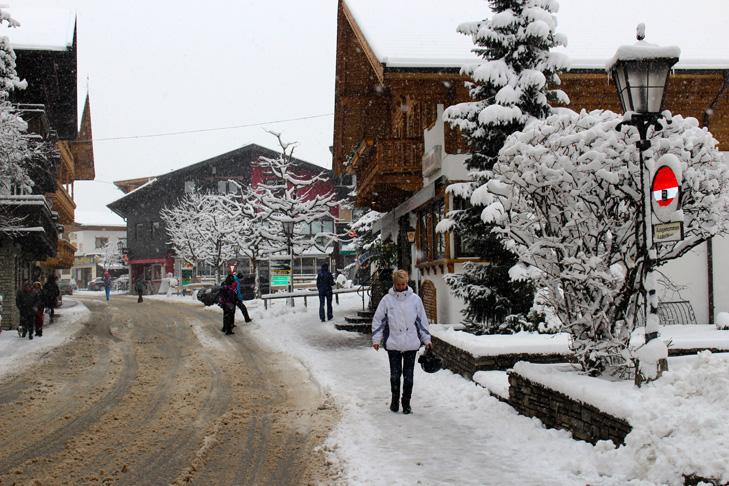 Verse sneeuw in Westendorf