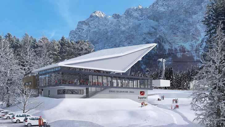 Dalstation nieuwe Zugspitzbahn